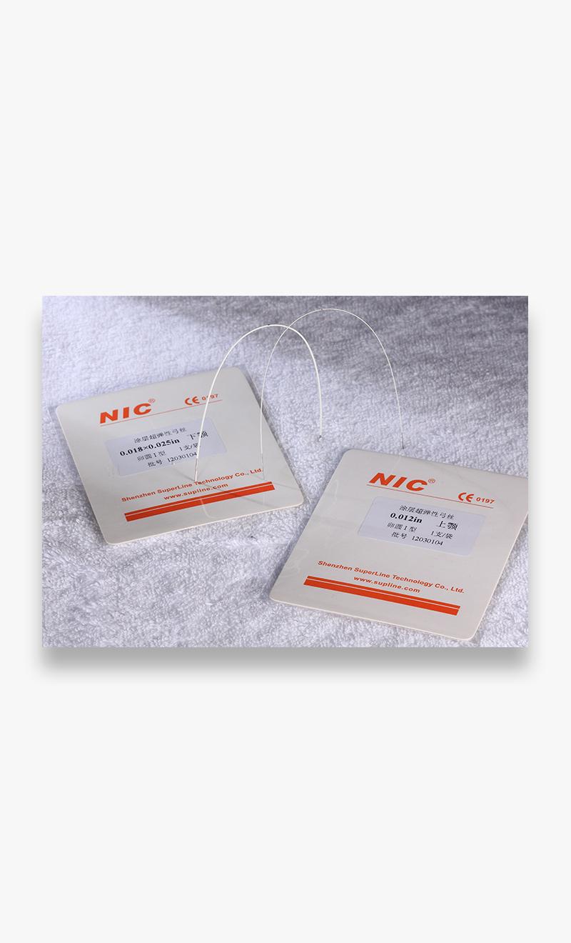 Nitinol coated archwires