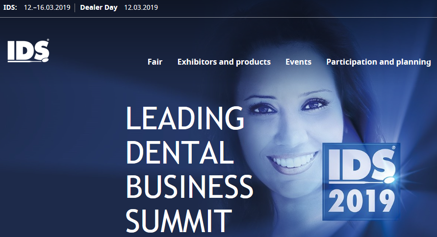 The International Dental Show(IDS) 12-16th March, booth: Hall 5.2, D-88